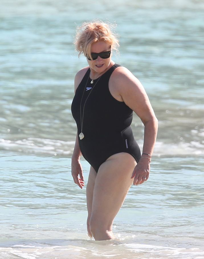 Exclusive... 52022714 'Wolverine' actor Hugh Jackman and his wife Deborra-Lee Furness enjoy a cool dip in the ocean while on vacation in St. Barts, France on April 13, 2016. The happy couple are currently celebrating their 20th wedding anniversary! Jackman, who has been diagnosed with skin cancer several times in the last couple of years, didn't seem to mind catching some rays in the ocean with his wife. Deborra-Lee could be seen sporting a small bandage on her right foot during the swim!  'Wolverine' actor Hugh Jackman and his wife Deborra-Lee Furness enjoy a cool dip in the ocean while on vacation in St. Barts, France on April 13, 2016. The happy couple are currently celebrating their 20th wedding anniversary! Jackman, who has been diagnosed with skin cancer several times in the last couple of years, didn't seem to mind catching some rays in the ocean with his wife. Deborra-Lee could be seen sporting a small bandage on her right foot during the swim! FameFlynet, Inc - Beverly Hills, CA, USA - +1 (310) 505-9876 RESTRICTIONS APPLY: NO GERMANY,NO ITALY,NO FRANCE,NO SPAIN