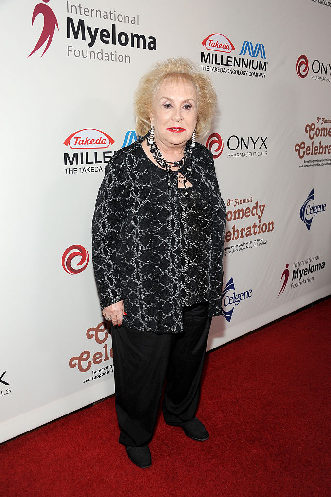"LOS ANGELES, CA - NOVEMBER 08:  Actress Doris Roberts attends the International Myeloma Foundation 8th Annual Comedy Celebration benefiting The Peter Boyle Research Fund & supporting The Black Swan Research Initiative featuring ""Celebrity Autobiography"" at The Wilshire Ebell Theatre on November 8, 2014 in Los Angeles, California.  (Photo by Angela Weiss/Getty Images for International Myeloma Foundation)"