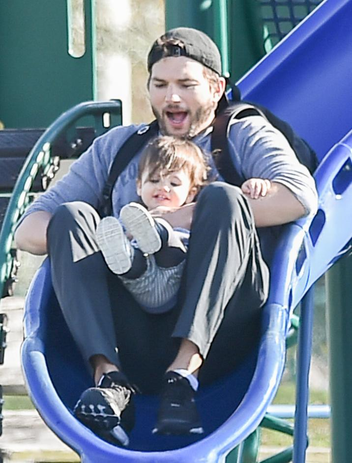 Semi-Exclusive... 51955427 Actor Ashton Kutcher was spotted playing at the park with his daughter, Wyatt Kutcher in New Orleans, Louisiana on January 25, 2016. The two were passing time while Ashton's wife (another mother to Wyatt) Mila Kunis was filming. FameFlynet, Inc - Beverly Hills, CA, USA - +1 (310) 505-9876