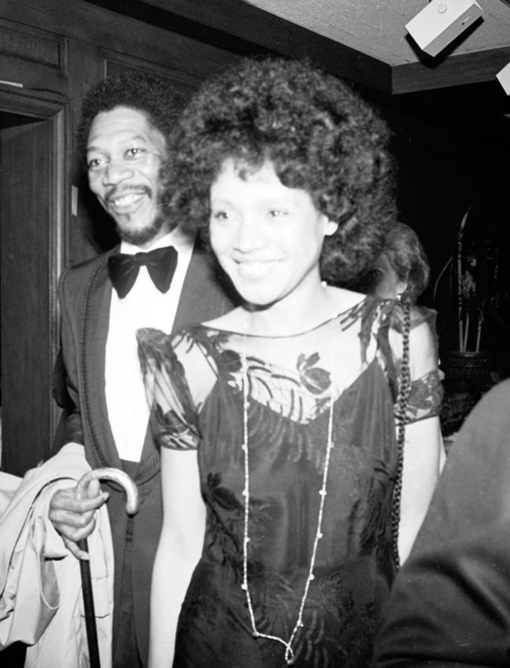 Morgan Freeman , wife Jeanette at Mighty Gents Broadway opening party April 12 1978 (Photo by Bobby Bank/WireImage)