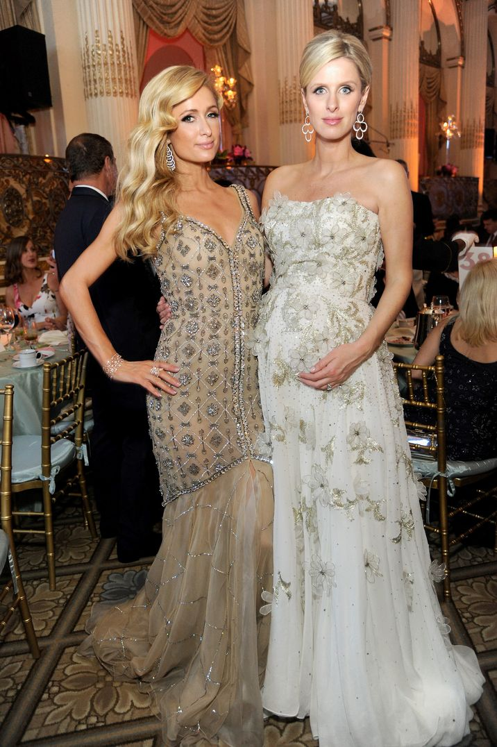 NEW YORK, NY - MAY 09:  Paris Hilton (L) and Nicky Rothschild attend FIT's Annual Gala to Honor Dennis Basso, John and Laura Pomerantz and QVC at the Grand Ballroom at The Plaza Hotel on May 9, 2016 in New York City.  (Photo by Rabbani and Solimene Photography/Getty Images for FIT)