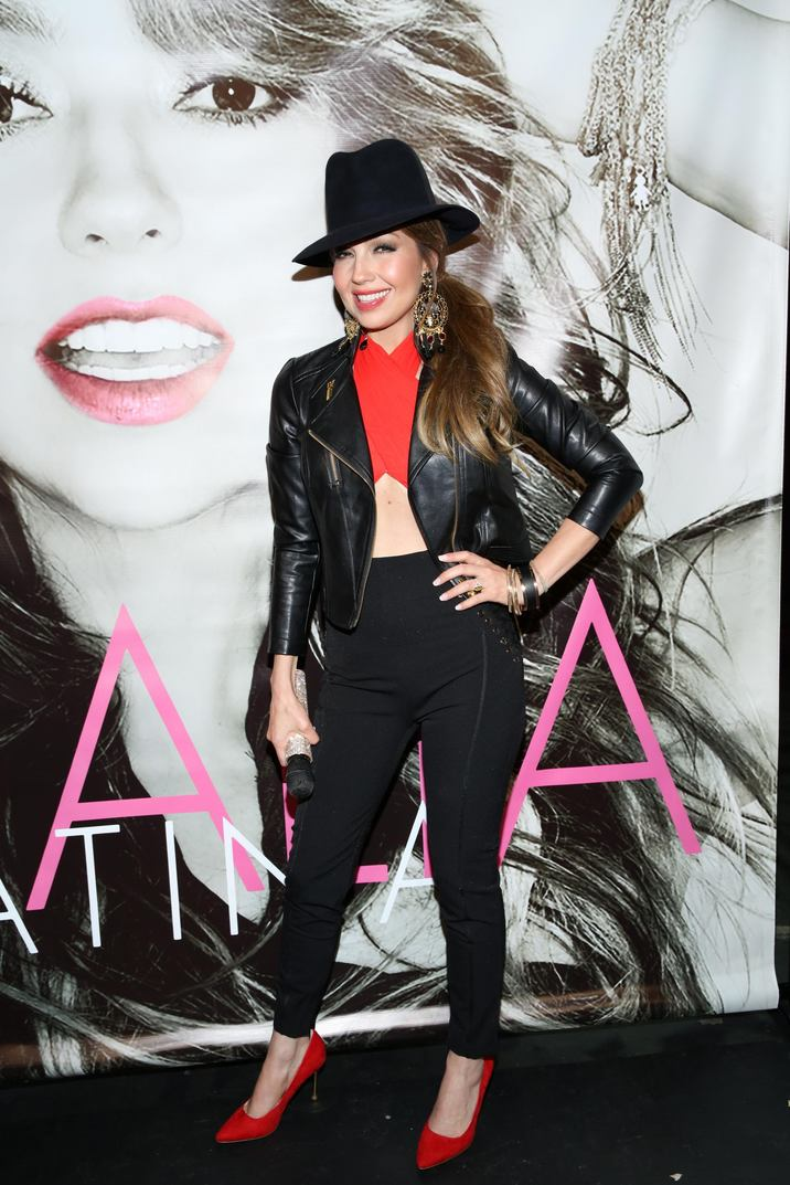 52050918 Singer Thalia attends an autograph signing event of her Latina album at Hard Rock Cafe in New York City, New York on May 10, 2016. FameFlynet, Inc - Beverly Hills, CA, USA - +1 (310) 505-9876