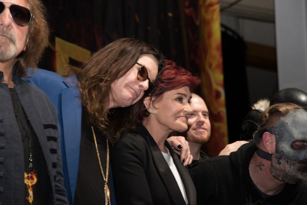 Ozzy Osbourne and Corey Taylor special announcement press conference for Ozzfest Meets Knotfest on May 12, 2016 at the Hollywood Palladium in Los Angeles, California. Featuring: Ozzy Osbourne, Sharon Osbourne, Jamey Jasta Where: Los Angeles, California, United States When: 13 May 2016 Credit: Charlie Steffens/WENN.com