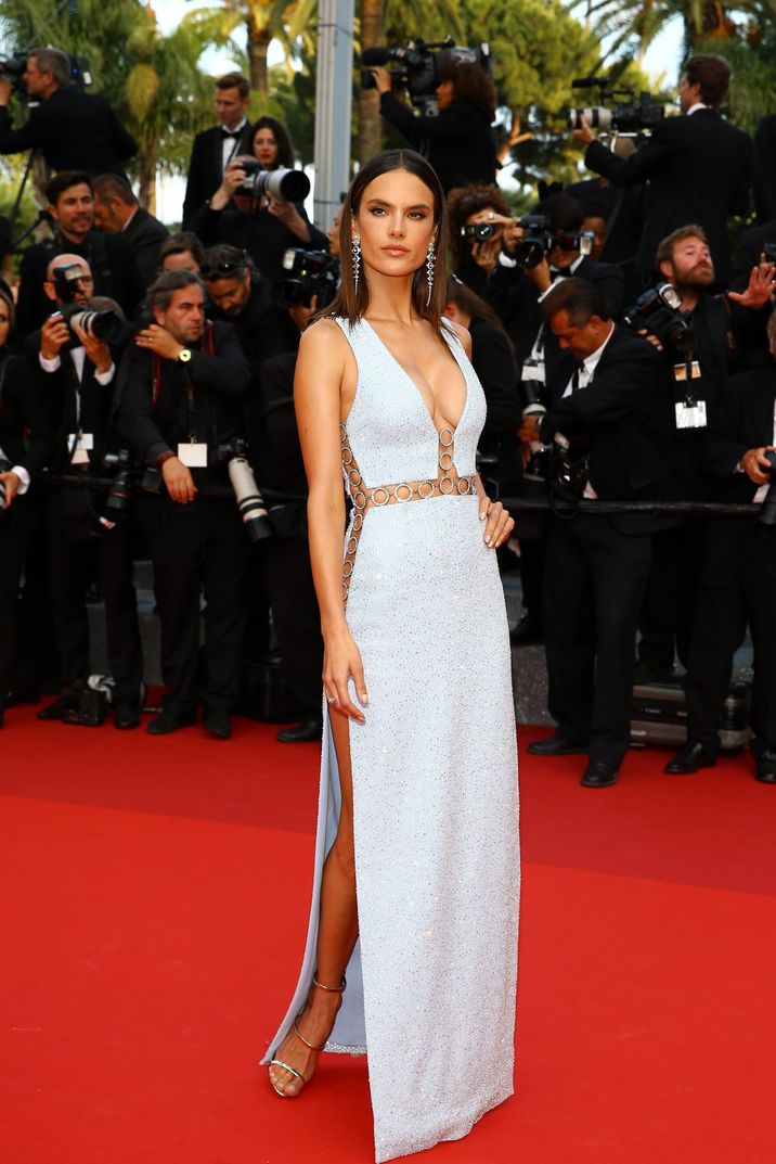 Alessandra Ambrosio attends the screening of The Unkown Girl (La Fille Inconnue) as part of the 69th annual Cannes Film Festival at Palais des Festivals on May 18, 2016 in Cannes, France. Photo by Shootpix/ABACAPRESS.COM