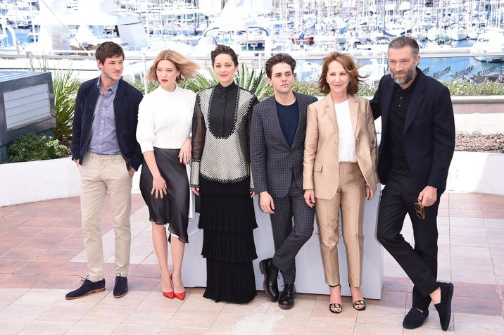 Gaspard Ulliel;Lea Seydoux;Marion Cotillard;Xavier Dolan;Nathalie Baye;Vincent Cassel 69^ Cannes Film Festival Photocell of the movie -Juste la fin du monde- Cannes 19-05-2016 © FameFlynet_Italy/SGP id  104436_082 *not exclusive