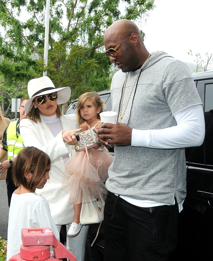 52006190 Members of the Kardashian clan attend church  in Agoura Hills on Easter Sunday, March 27, 2016.  Members of the Kardashian clan attend church  in Agoura Hills on Easter Sunday, March 27, 2016.  Pictured: Khloe Kardashian, Penelope Disick, Mason Disick, Lamar Odom FameFlynet, Inc - Beverly Hills, CA, USA - +1 (310) 505-9876