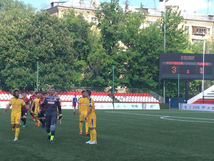 Sfarsitul meciului Romania - Turcia