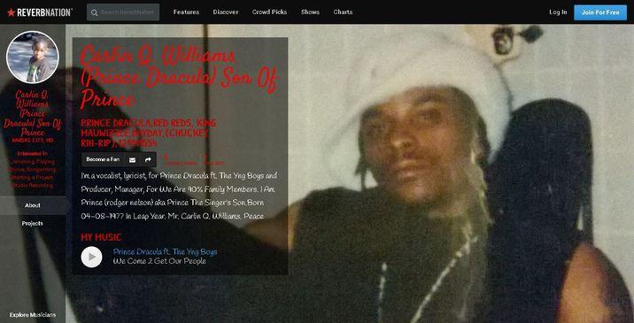 Captura site-ul fiului lui Prince - DE DAT