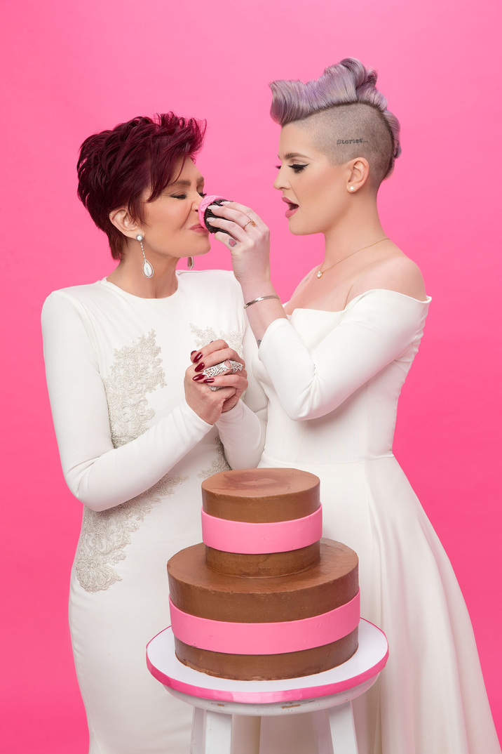 """Sharon Osbourne and daughter Kelly Osbourne get messy as they have a mud cake fight as ambassadors of Cancer Research UK's Race for Life, which is calling on women to help beat the disease. Sharon, 63, and Kelly, 31, are seen smeared with cake in a pair of white gowns in the charity photo shoot. The campaign urges women across the UK to take on Race for Life's Pretty Muddy events. Sharon survived colon cancer in 2002 and then underwent a double mastectomy in 2012. Kelly was then diagnosed with the BRCA1 gene in 2015. The duo have now come together to ask women to get down and dirty with Race for Life's Pretty Muddy - a 5k muddy obstacle course where women of any ability can climb, jog or walk - and help beat cancer sooner. Sharon said: """"I'm honoured to be supporting Cancer Research UK's Race for Life again this year. Cancer has stolen the lives of so many, but there is something we can do to help change the odds."""" Kelly said: """"Watching mum fighting colon cancer inspired me to want to do something to beat the disease."""" Women can take part in 5K, 10K and Pretty Muddy events, with over 300 events taking place nationwide this summer - enter at raceforlife.org *MANDATORY CREDIT Splash/Cancer Research UK's Race for Life* Pictured: Sharon Osbourne and Kelly Osbourne for Cancer Research UK Ref: SPL1285625 200516 Picture by: Splash/Cancer Research UK Splash News and Pictures Los Angeles: 310-821-2666 New York: 212-619-2666 London: 870-934-2666 photodesk@splashnews.com"""