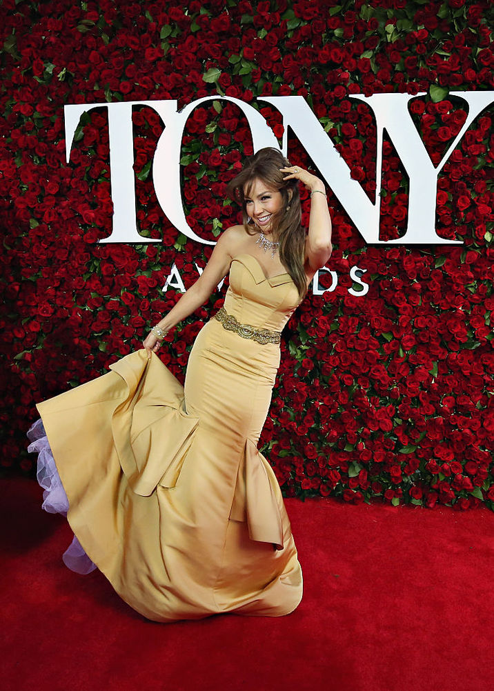NEW YORK, NY - JUNE 12: Singer Thalia poses for a photo at the Nordstrom photo booth at the 70th Annual Tony Awards at The Beacon Theatre on June 12, 2016 in New York City. (Photo by Cindy Ord/Getty Images for Nordstrom )
