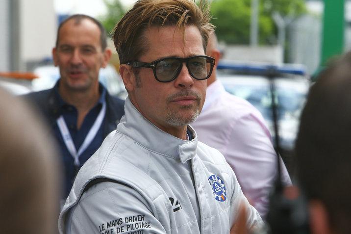 Brad Pitt aux 24 heures du Mans le 18 juin 2016 Brad Pitt at 24 heures du Mans car race on 18/06/2016