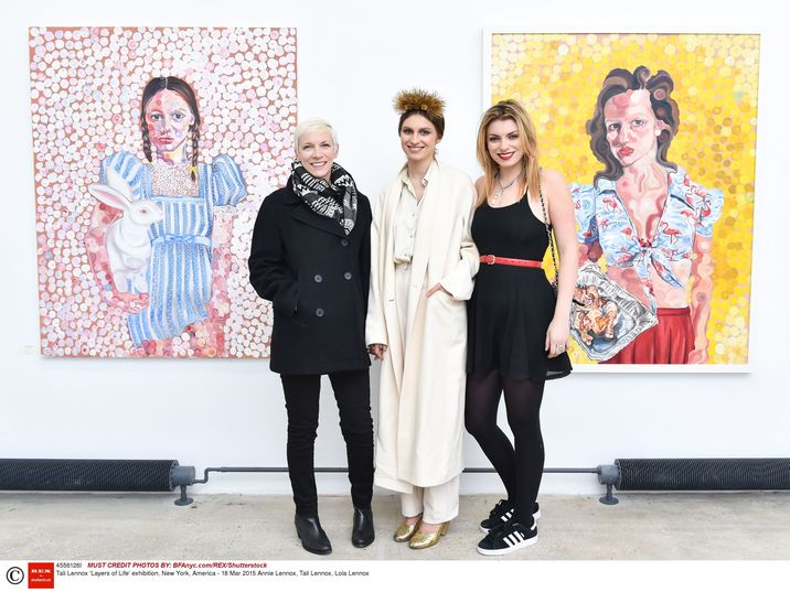 Mandatory Credit: Photo by Billy Farrell/BFAnyc.com/REX/Shutterstock (4556126l) Annie Lennox, Tali Lennox, Lola Lennox Tali Lennox 'Layers of Life' exhibition, New York, America - 18 Mar 2015