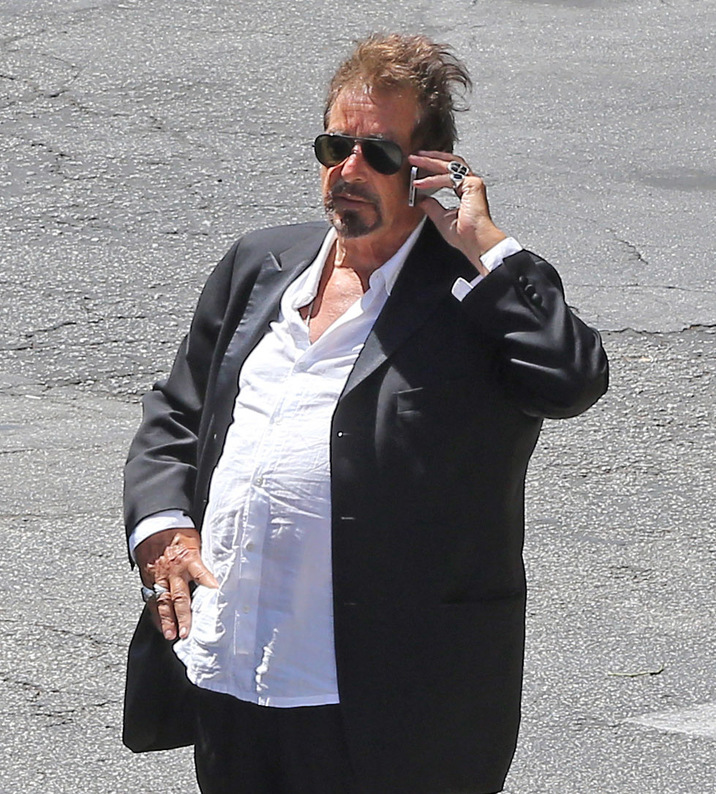 """Exclusive... 52109987 Al Pacino pays a visit to the """"Macha Theatre"""" in West Hollywood, California on July 1, 2016. The legend actor seemed rather busy on the phone. Al Pacino pays a visit to the """"Macha Theatre"""" in West Hollywood, California on July 1, 2016. The legend actor seemed pretty busy on the phone. FameFlynet, Inc - Beverly Hills, CA, USA - +1 (310) 505-9876"""