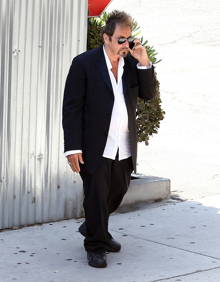 """Exclusive... 52109983 Al Pacino pays a visit to the """"Macha Theatre"""" in West Hollywood, California on July 1, 2016. The legend actor seemed rather busy on the phone. Al Pacino pays a visit to the """"Macha Theatre"""" in West Hollywood, California on July 1, 2016. The legend actor seemed pretty busy on the phone. FameFlynet, Inc - Beverly Hills, CA, USA - +1 (310) 505-9876"""