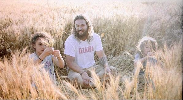 Cu cei doi copii cu Lisa Bonet