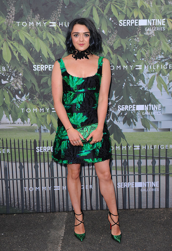 LONDON, ENGLAND - JULY 06:  Maisie Williams arrives for the Serpentine Summer Party at The Serpentine Gallery on July 6, 2016 in London, England.  (Photo by Eamonn M. McCormack/Getty Images)