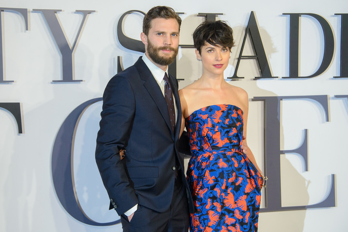 'Fifty Shades of Grey' UK premiere at the Odeon Leicester Square - Arrivals Featuring: Jamie Dornan and Amelia Warner Where: London, United Kingdom When: 12 Feb 2015 Credit: Joe/WENN.com