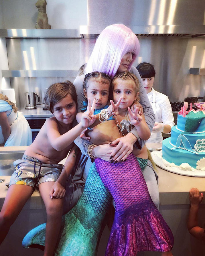 Khloe Kardashian: The best seat in the house with my Mermaids and my Mase Supplied by Instagram.com/face to face