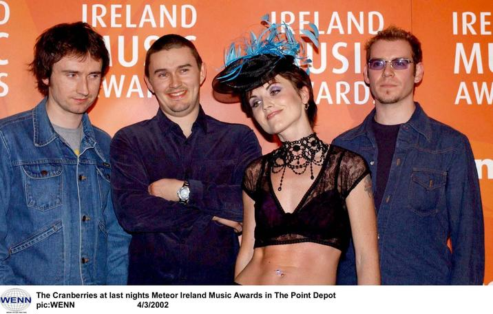 The Cranberries at the Meteor Ireland Music Awards in The Point Depot WENN Where: Dublin, Ireland When: 04 Mar 2002 Credit: WENN