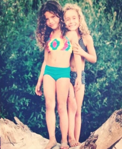 Morgan şi Francesca pe când erau mici