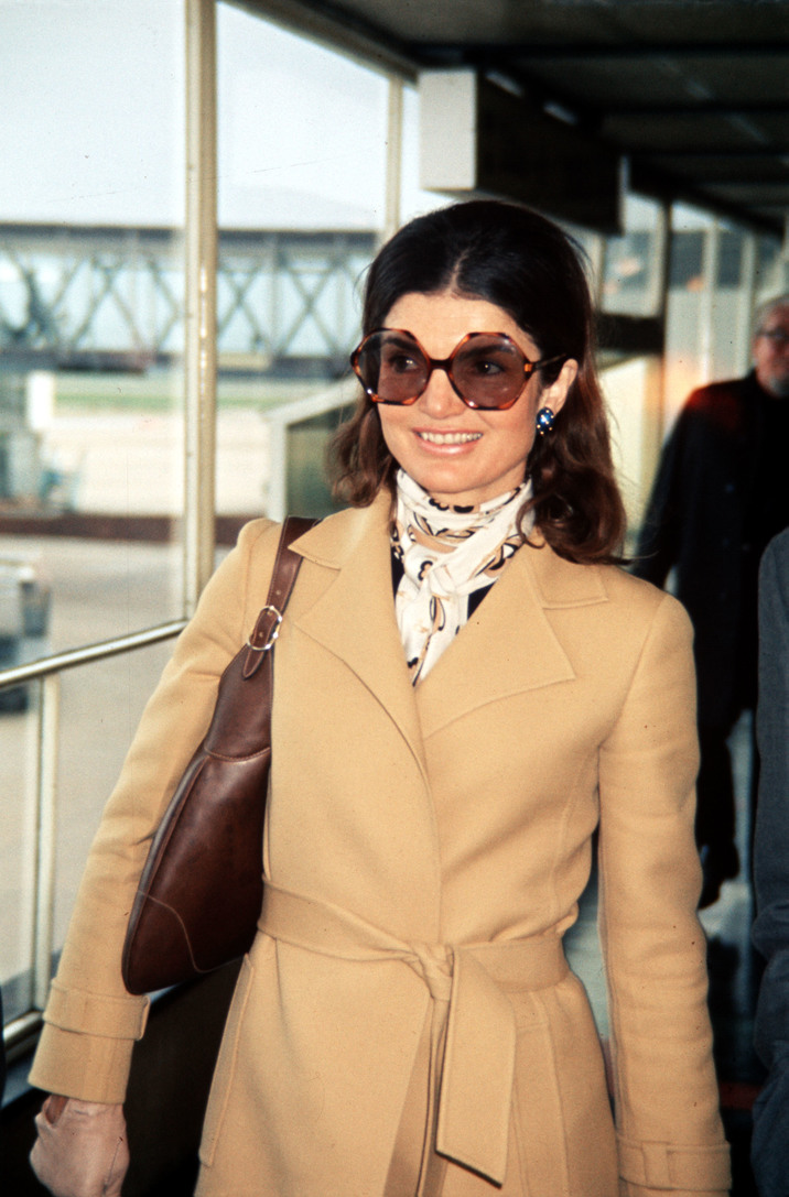 June 1971, A picture of Jacqueline Onassis, the former First Lady when she was married to President of the USA John F Kennedy, and wife of Greek shipping magnate Aristotle Onassis  (Photo by Paul Popper/Popperfoto/Getty Images)