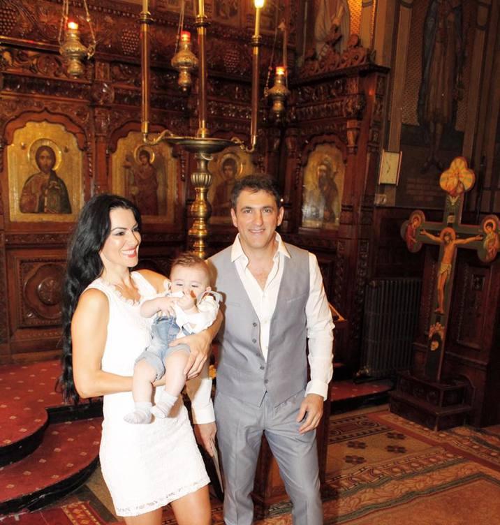 Silvia Launeanu fiul ei botez (2)