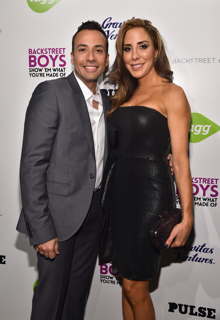"HOLLYWOOD, CA - JANUARY 29:  Singer Howie Dorough and Leigh Boniello attend the premiere of Gravitas Ventures' ""Backstreet Boys: Show 'Em What You're Made Of""   at  on January 29, 2015 in Hollywood, California.  (Photo by Alberto E. Rodriguez/Getty Images)"