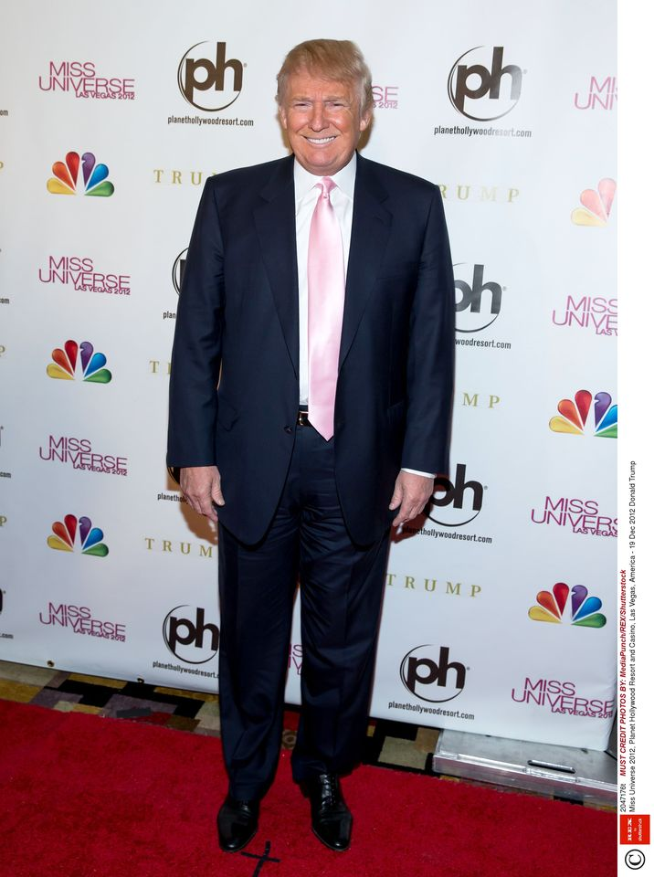Mandatory Credit: Photo by MediaPunch/REX/Shutterstock (2047176t) Donald Trump Miss Universe 2012, Planet Hollywood Resort and Casino, Las Vegas, America - 19 Dec 2012