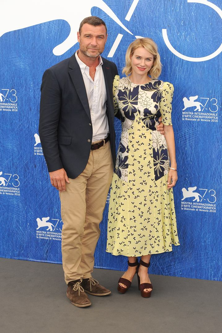 VENICE, ITALY - SEPTEMBER 2: Liev Schreiber and Naomi Watts attends a photocall for The Bleeder during the 73rd Venice Film Festival on September 2, 2016 in Venice, Italy. CAP/BEL ©BEL/Capital Pictures