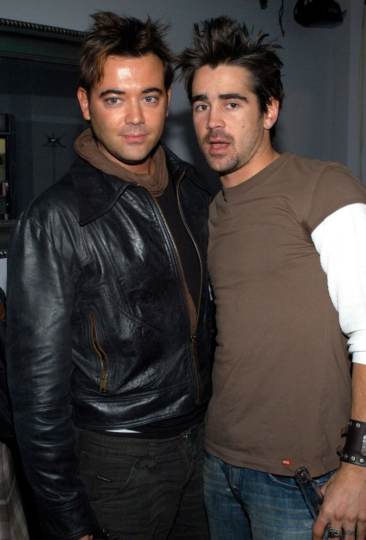 Colin Farrell and brother Eamon Farrell  (Photo by KMazur/WireImage)