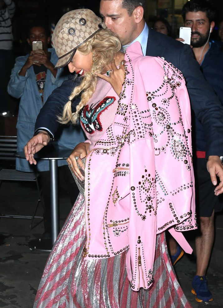 52195706 Beyonce Knowles out and about in New York, New York on October 5, 2016.  She rocked a bright pink shirt with a butterfly on it with a matching skirt and jacket. FameFlynet, Inc - Beverly Hills, CA, USA - +1 (310) 505-9876
