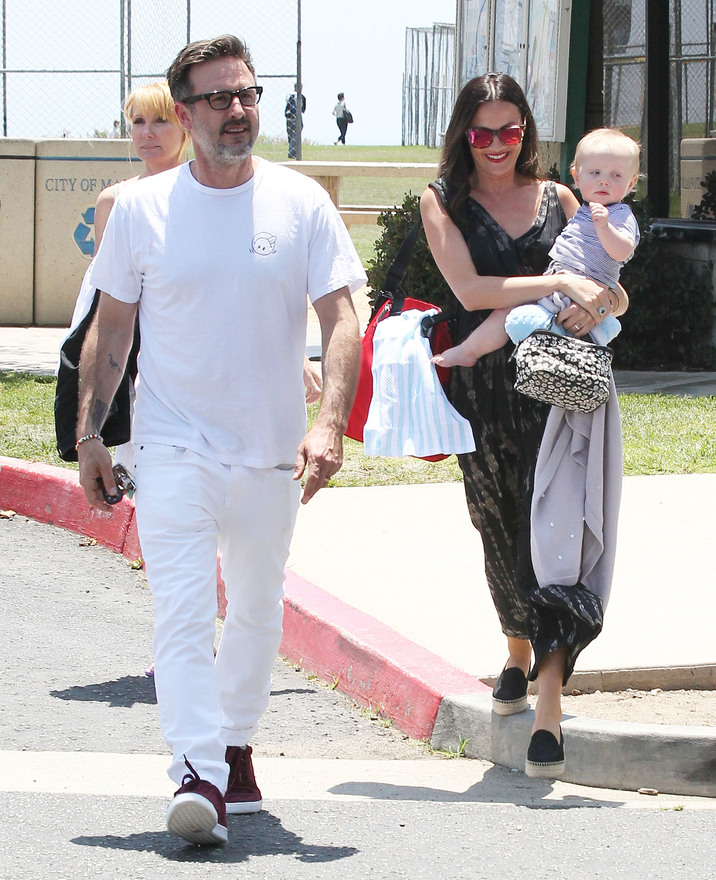 Exclusive... 51753443 Actor and proud dad David Arquette and his wife Christina McLarty take their baby boy Charlie to the park in Malibu, California for a day of family fun on May 24, 2015. The happy couple tied the knot back in April at Cicada in Los Angeles, surrounded by family and friends. FameFlynet, Inc - Beverly Hills, CA, USA - +1 (818) 307-4813
