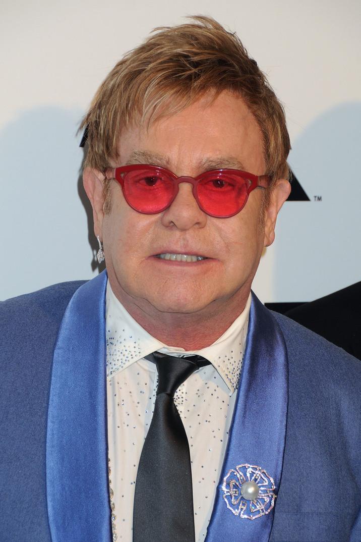 22 February 2015 - West Hollywood, California - Elton John. 23rd Annual Elton John Oscar Viewing Party held at West Hollywood Park. Photo Credit: Byron Purvis/AdMedia