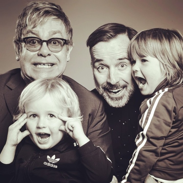 """Elton John """"Happy Father's Day!! I have never felt so blessed in all my life."""" Supplied by Instagram.com/face to face"""