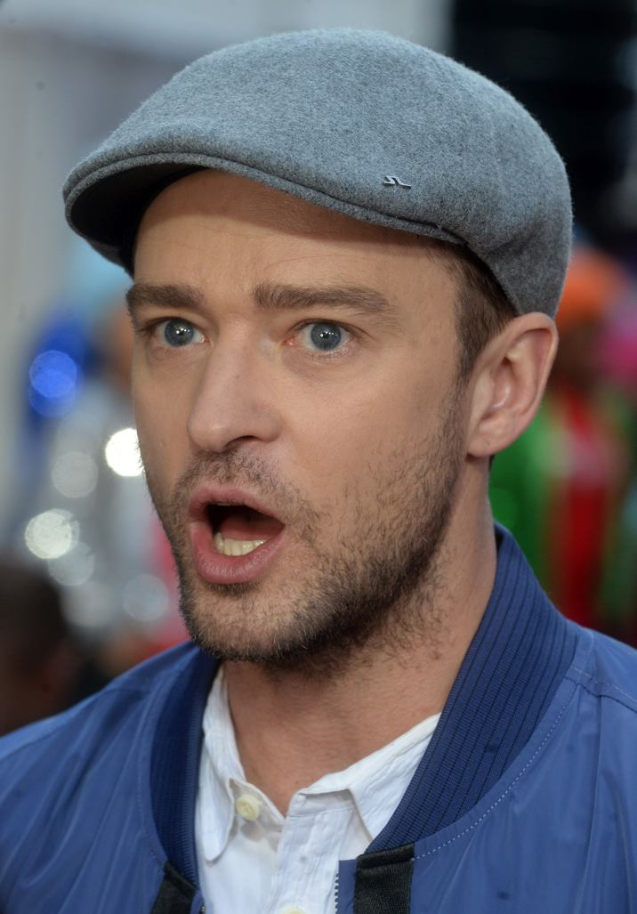 Justin Timberlake arrives on the stage when Macy's Celebrates Troll at Macy's Herald Square on October 6, 2016 in New York City, NY, USA. Photo by Dennis Van Tine/ABACAPRESS.COM