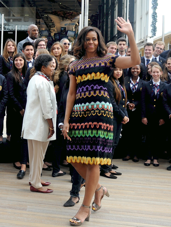 MILAN, ITALY - JUNE 18:  US First Lady Michelle Obama arrives at the United States Pavilion at the Milan Expo 2015 on June 18, 2015 in Milan, Italy. After visiting London, Michelle Obama has travelled to Italy where she is expected to speak about her 'Let's Move' initiative to combat childhood obesity.   (Photo by Pier Marco Tacca/Getty Images)