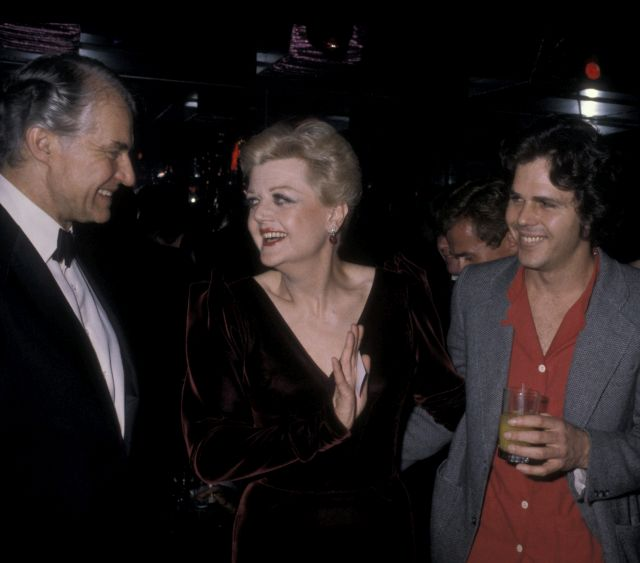 Actress Angela Lansbury, husband Peter Shaw and son Anthony Shaw attend Ruby Awards on December 16, 1979 at New York New York Disco in New York City. (Photo by Ron Galella/WireImage)