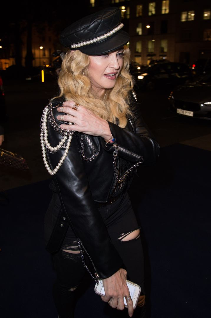 Madonna Vernissage For Opening Exhibition By Mert Alas & Marcus Piggott 27th October 2016 London UK © FameFlynet_Italy/SGP id  107755 *not exclusive