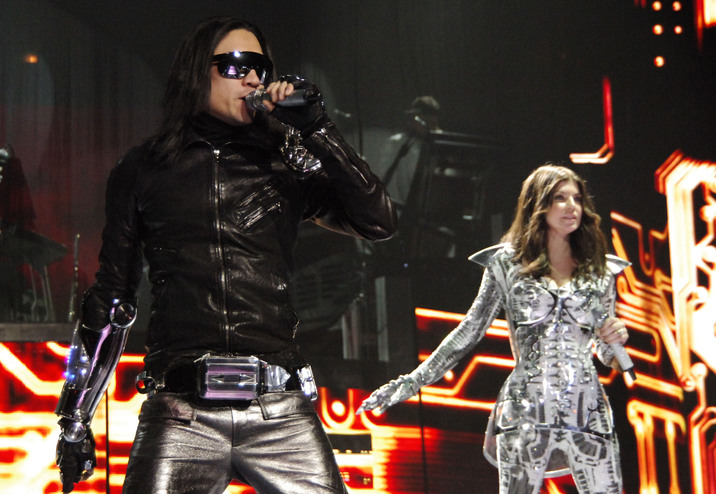#4685897 The Black Eyed Peas perform at The United Center in Chicago, Illinois on March 14, 2010.  Pictured: Taboo, Fergie  Fame Pictures, Inc - Santa Monica, CA, USA - +1 (310) 395-0500