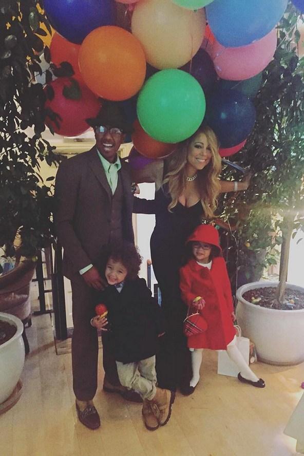 Cu fostul soţ, Nick Cannon, şi cei doi copii ai lor