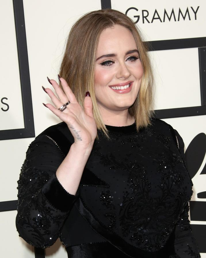 Mandatory Credit: Photo by Jim Smeal/BEI/Shutterstock (5587172dm) Adele 58th Annual Grammy Awards, Arrivals, Los Angeles, America - 15 Feb 2016