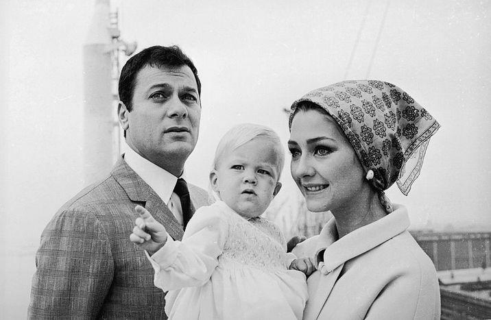 Actorul şi soţia Christine Kaufmann