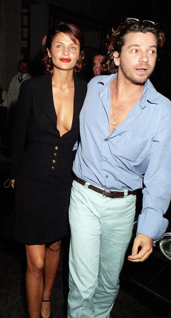 Helena Christensen and Michael Hutchence (Photo by Tom Wargacki/WireImage)