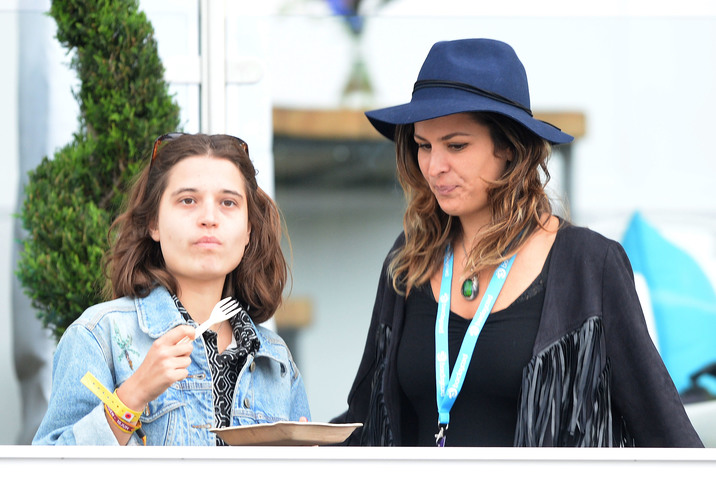 LONDON, ENGLAND - JUNE 18: Tiger Lily Hutchence and Lliana Bird in the Barclay Hospitality Suite as part of the British Summer Time 2015 gigs at Hyde Park on June 18, 2015 in London, England.  (Photo by Dave J Hogan/Getty Images)