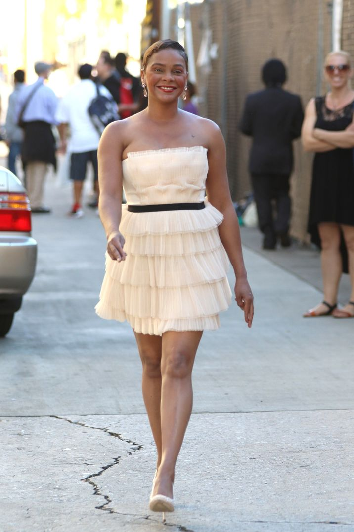 Lark Voorhies leaves 'Jimmy Kimmel Live' on her 41st Birthday in Hollywood, CA. Pictured: Lark Voorhies Ref: SPL984820  250315   Picture by: Sonia Hall / Splash News Splash News and Pictures Los Angeles:310-821-2666 New York:212-619-2666 London:870-934-2666 photodesk@splashnews.com