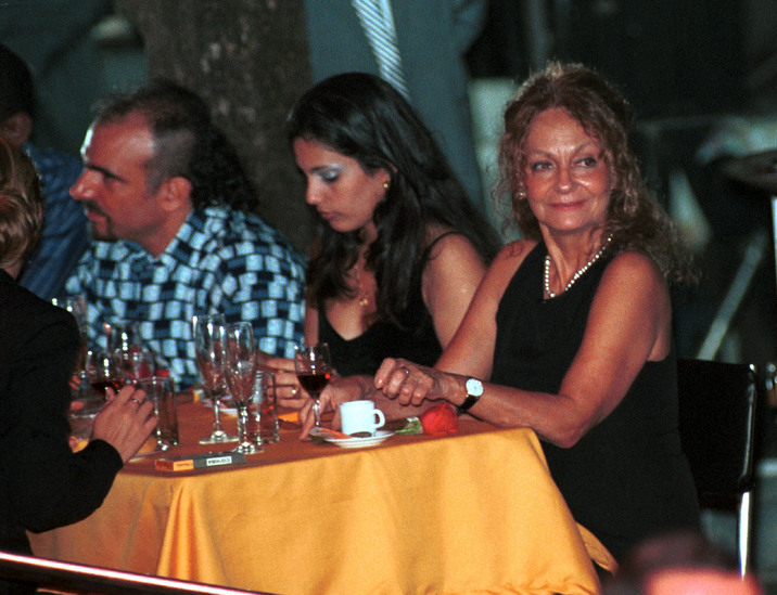 393211 05: (FILE PHOTO) Dalia Soto del Valle (R) sits with her and Fidel Castro''s son, Alexander (L), and an unidentified friend during the Habanos SA event February 2001 at the Tropicana Cabaret, in Havana, Cuba. Soto del Valle, 60, has lived with Cuban President Fidel Castro for the past 40 years and has had five children with him. Castro turns 75 years of age, August 13, 2001. (Photo by Jorge Rey/Getty Images)