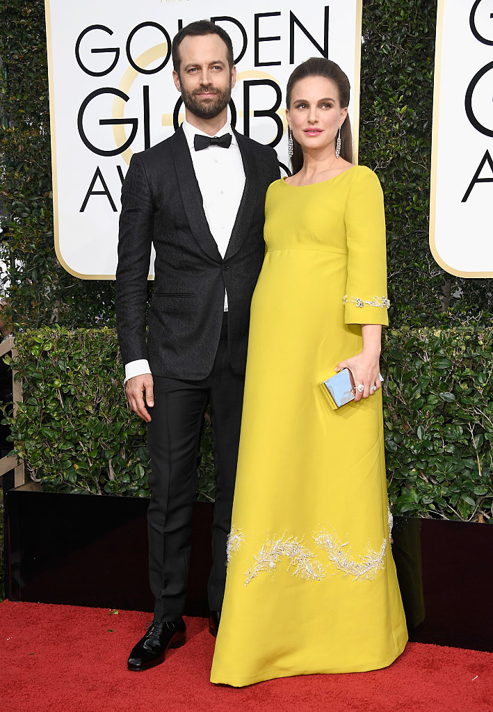 BEVERLY HILLS, CA - JANUARY 08: Choreographer Benjamin Millepied and actress Natalie Portman attend the 74th Annual Golden Globe Awards at The Beverly Hilton Hotel on January 8, 2017 in Beverly Hills, California. (Photo by Frazer Harrison/Getty Images)