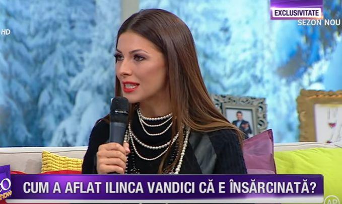 Ilinca Vandici insarcinata Teo Show