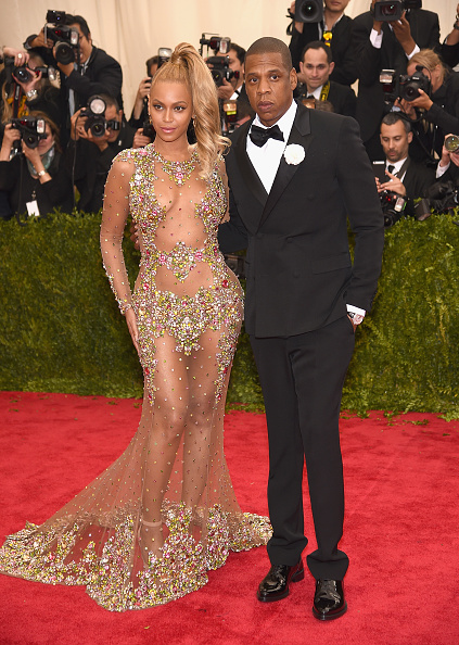 NEW YORK, NY - MAY 04: Beyonce and Jay Z attend the 'China: Through The Looking Glass' Costume Institute Benefit Gala at the Metropolitan Museum of Art on May 4, 2015 in New York City. (Photo by Dimitrios Kambouris/Getty Images)