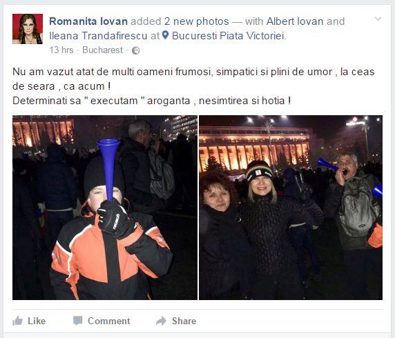 Romanita Iovan proteste